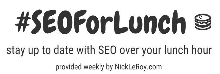 Google Ignores Links From News Publications – SEOForLunch Issue #38